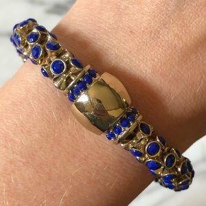 🔥 Gold Tone Royal Blue Bracelet